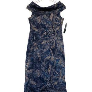 Lauren Ralph Lauren Indigo Floral Print Dress